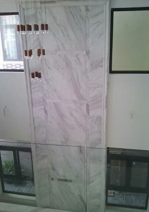 Stone walling of TV walls 7.3m high at 365/75 Huynh Van Nghe, Buu Long, Bien Hoa, Dong Nai